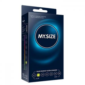 My Size - Natural Latex Condom 49 Width 10 pcs