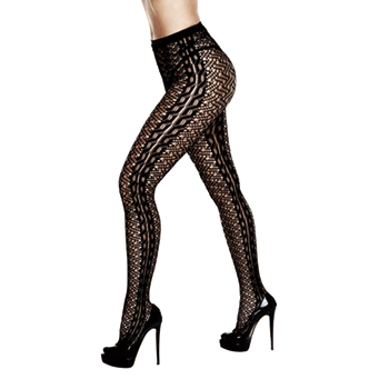 Baci - Braided Jacquard Pantyhose One Size