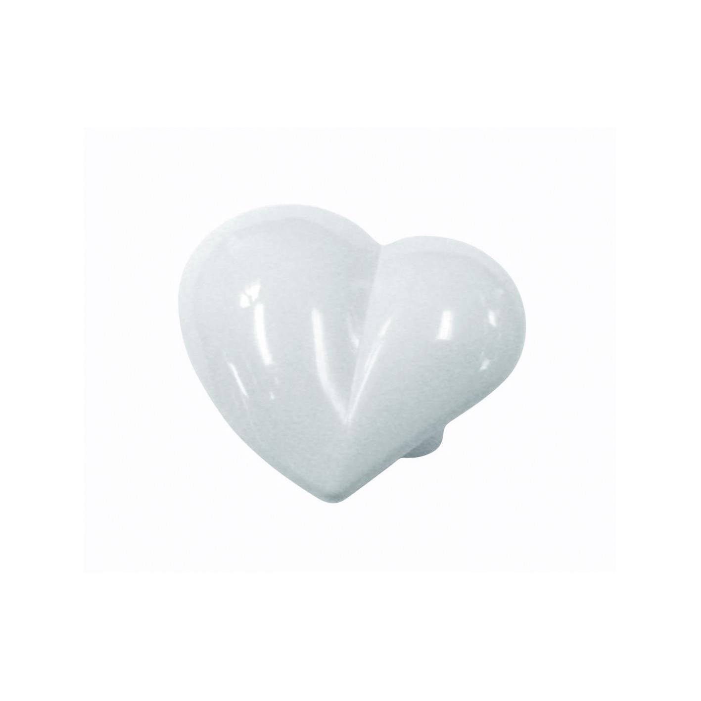 Nickelfri knopp Hjärta Vitmålad plast