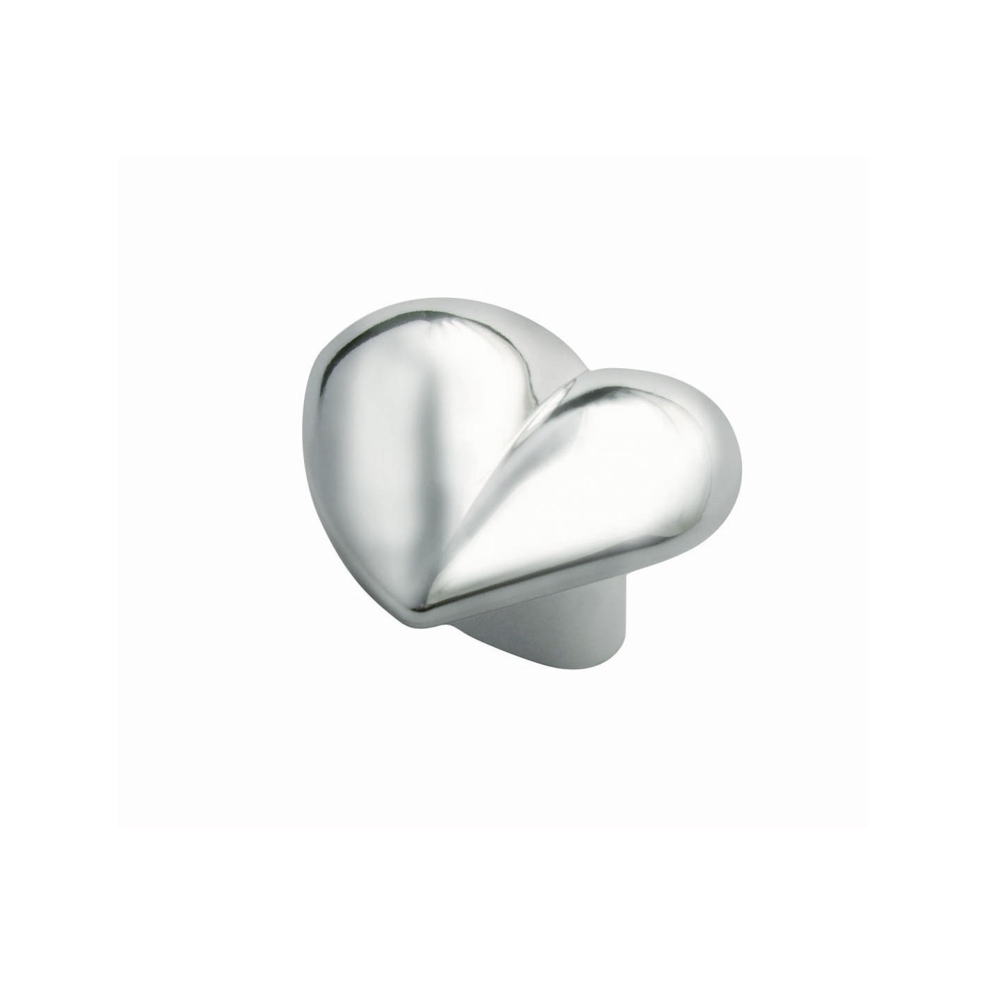 Nickelfri knopp Hjärta Blank krom