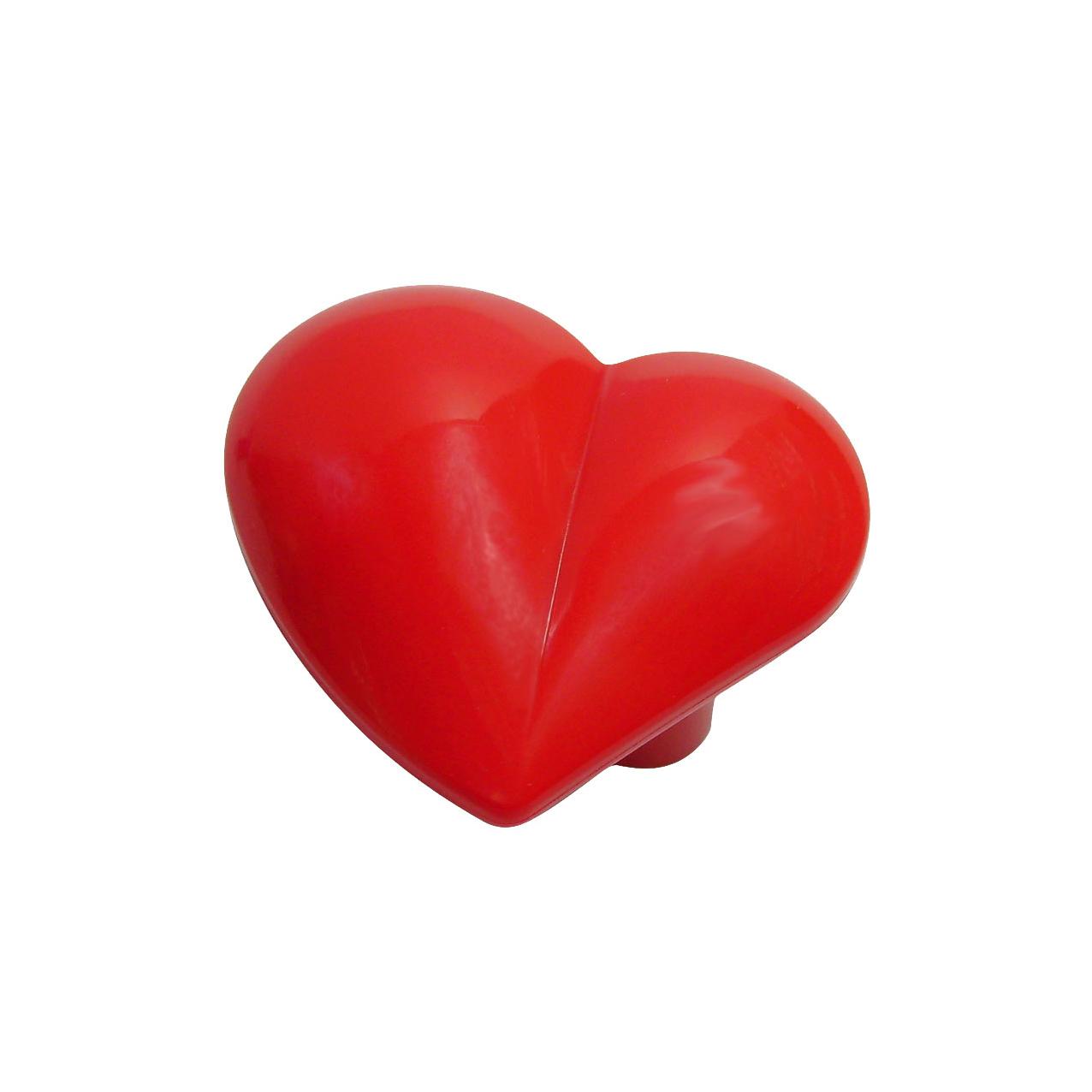 Nickelfri knopp Hjärta i kärleksfull röd färg