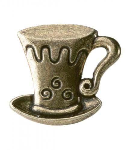 Byråknopp Metall Gammal antik Cappuccino
