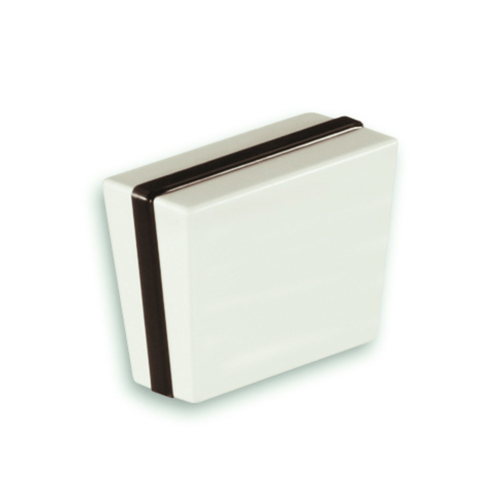 Nickelfri knopp Engelsk Konfekt i vit och svart plast