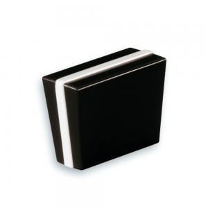 Nickelfri knopp Engelsk Konfekt i svart och vit plast