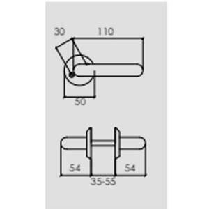 Modernt dörrhandtag Innerdörrar Blank mässing