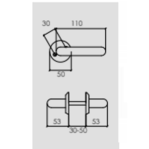 Dörrhandtag Innerdörr Modern design Matt krom