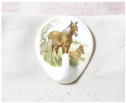 Krok Självhäftande Häst med föl