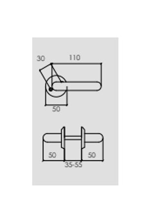 Dörrhandtag Innerdörrar Stilren design Blank krom