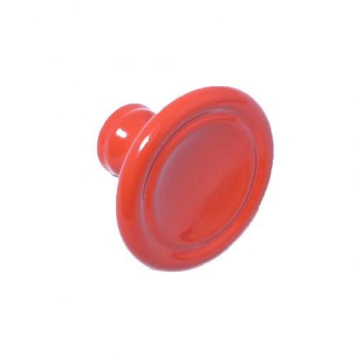 Retroknopp Röd 1950-tal Metall