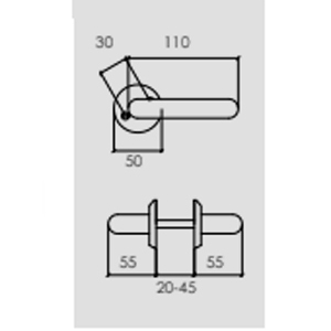 Dörrhandtag Innerdörrar Klassisk design Blank mässing