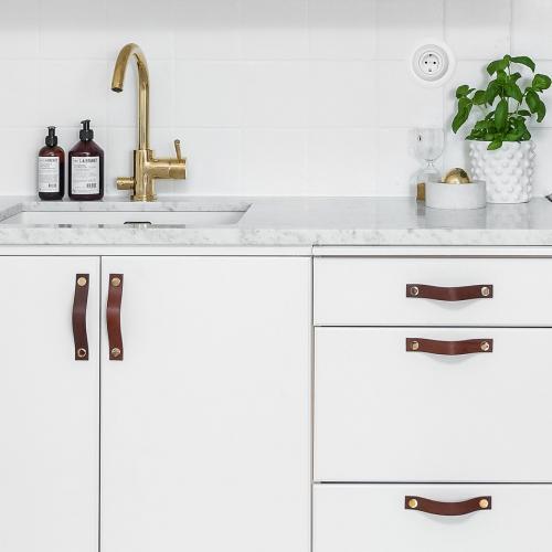 Läderhandtag Kök Brun & Koppar