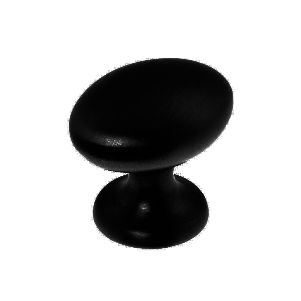 Oval knopp Svart Metall Lantlig känsla