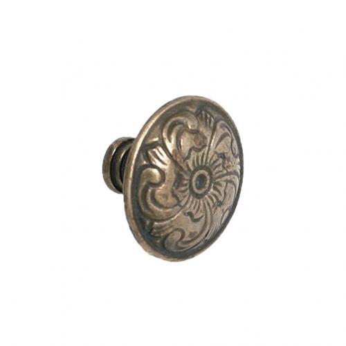 Rund knopp Antik design Metall Dekorativt mönster