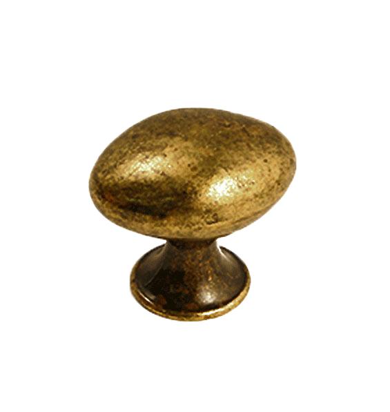 Oval knopp Gammal antik Metall Lantlig design