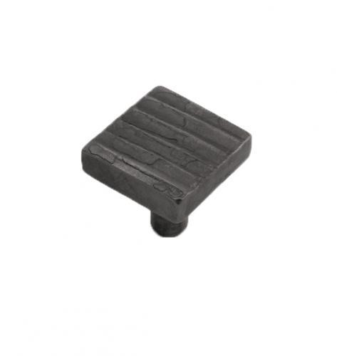 Handsmiden kvadratisk knopp av metall och svart smides färg
