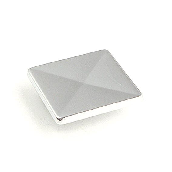 Knopp Push-knapp Blank krom Fyrkantig form