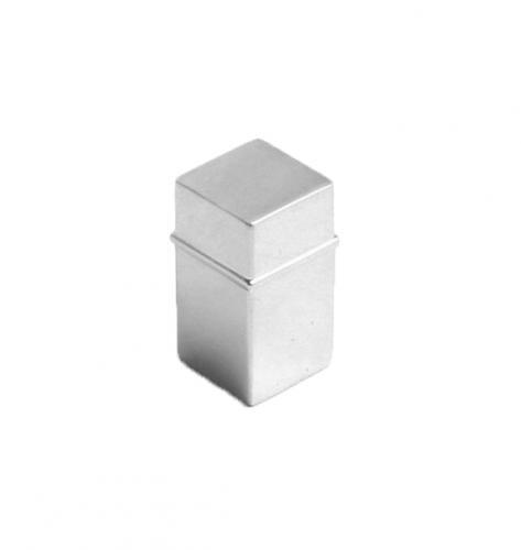 Knopp Metall Fyrkantig Blank krom