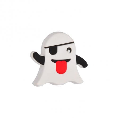 Emoji Spöke Barnrum Gummiknopp