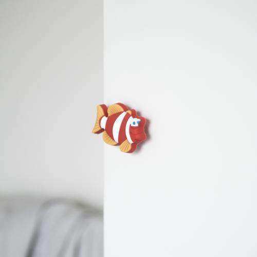 Fisk Barnrum Gummiknopp