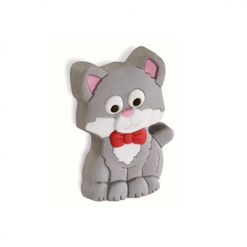 Katt Barnrum Gummiknopp