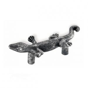 Handtag Ödla Tropiska djur Svart antik