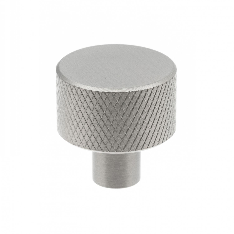 industriell knopp metall, rund med räfflat mönster