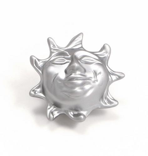 Metallknopp Sol Matt krom