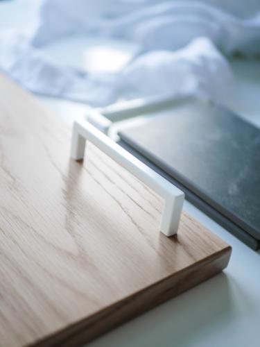Linfalk Handtag Vit Köksbeslag Stilren design