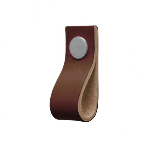 "Läderloop Brun & Krom Läder knopp  (""Läderflärp"")"