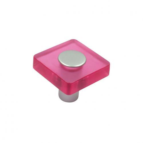 Plastknopp Rosa
