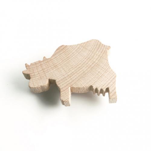 Träknopp Ko Obehandlat trä