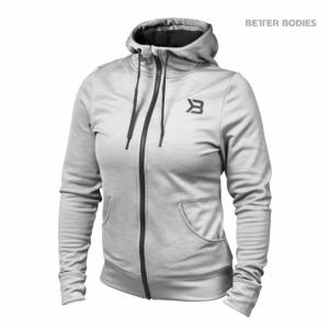 BETTER BODIES: PERFORMANCE HOODIE - GRÅ