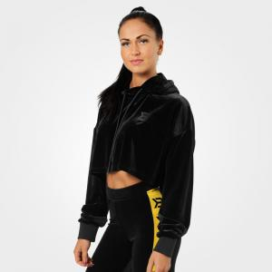 BETTER BODIES: CHRYSTIE CROP HOODIE - SVART