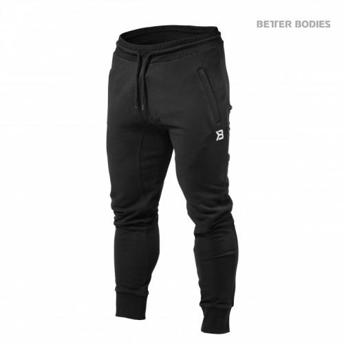 BETTER BODIES: TAPERED JOGGERS BYXOR - SVART
