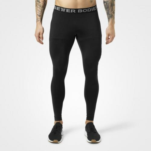 BETTER BODIES: MENS LOGO TIGHTS - SVART