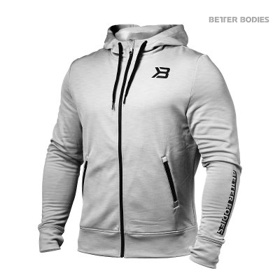 BETTER BODIES: PERFORMANCE POWER HOODIE - GRÅ