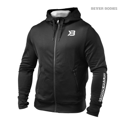 BETTER BODIES: PERFORMANCE POWER HOODIE - SVART