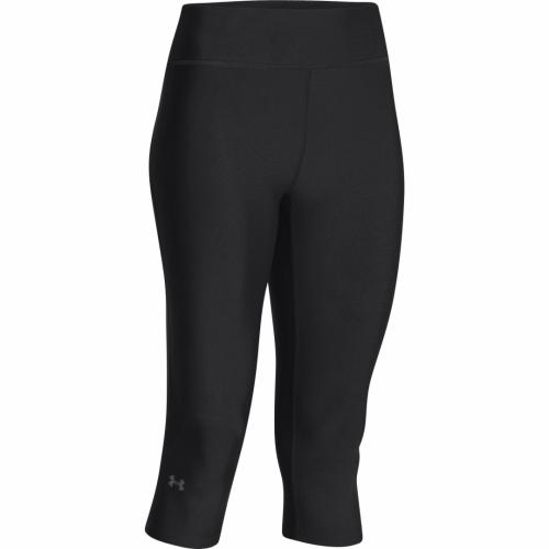 UNDER ARMOUR: WOMENS HEATGEAR CAPRI 43cm - SVART