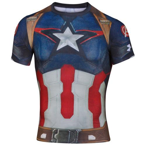 UNDER ARMOUR: CAPTAIN AMERICA KOMPRESSIONS T-SHIRT