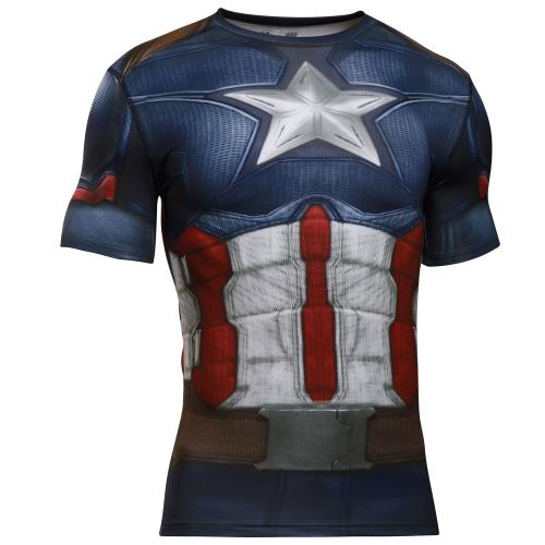 UNDER ARMOUR: CAPTAIN AMERICA 3.0 KOMPRESSIONS T-SHIRT