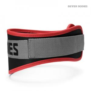 BETTER BODIES: BASIC GYM BELT - SVART/RÖD/GRÅ