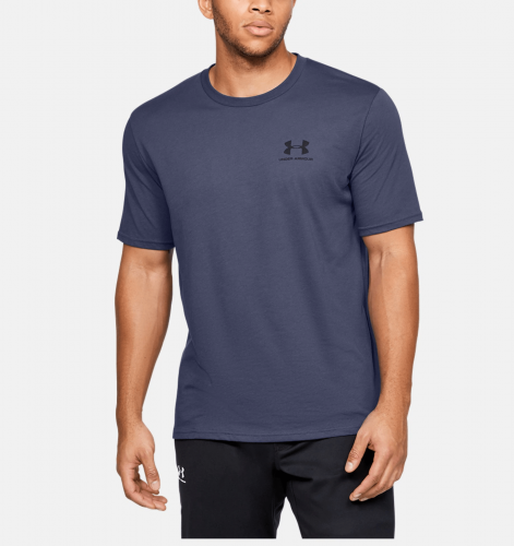 UNDER ARMOUR: SPORTSTYLE LEFT CHEST TRÖJA - MÖRKBLÅ