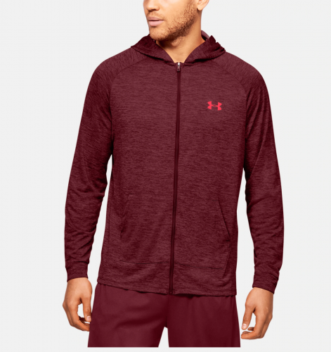 UNDER ARMOUR: TECH 2.0 FZ HOODIE - RÖD