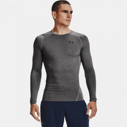 UNDER ARMOUR: HG ARMOUR COMP LÅNGÄRMAD - CARBON GRÅ
