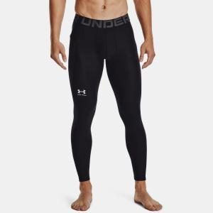 UNDER ARMOUR: HEATGEAR ARMOUR LEGGINGS - SVART