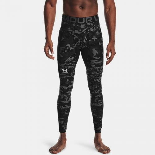 UNDER ARMOUR: HEATGEAR ARMOUR CAMO LEGGINGS - SVART