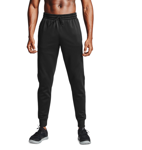 UNDER ARMOUR: MEN'S ARMOUR FLEECE JOGGERS - SVART