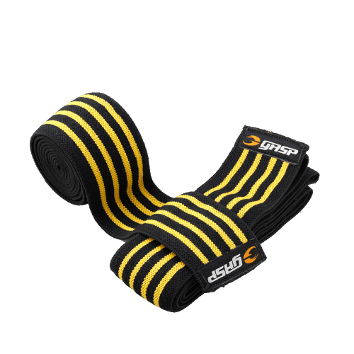 GASP: KNEE WRAPS - BLACK/FLAME