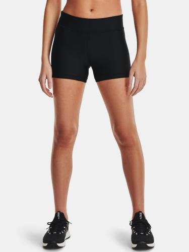 UNDER ARMOUR: HEATGEAR MID RISE SHORTY SHORTS - SVART