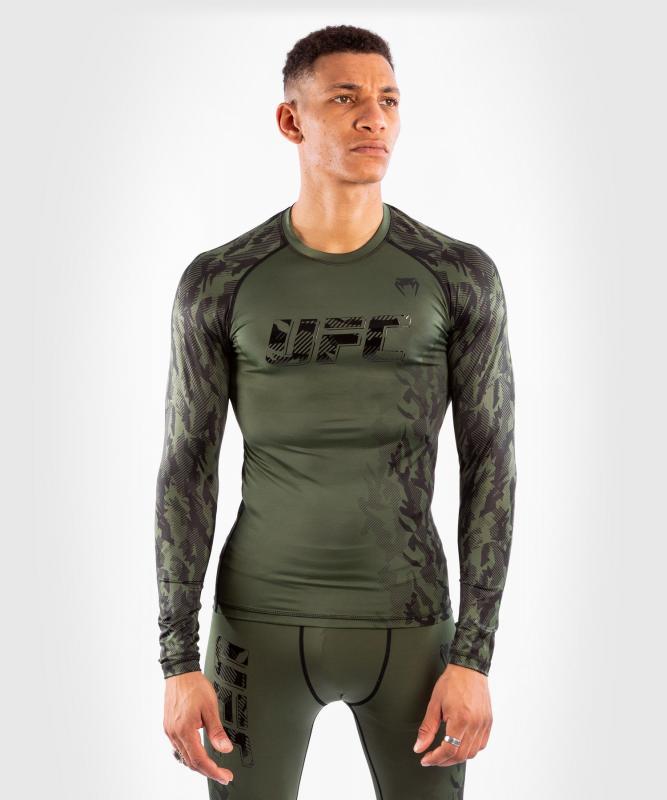 VENUM: UFC AUTHENTIC FIGHT WEEK MEN'S PERFORMANCE LÅNGÄRMAD RASHGUARD - KHAKI